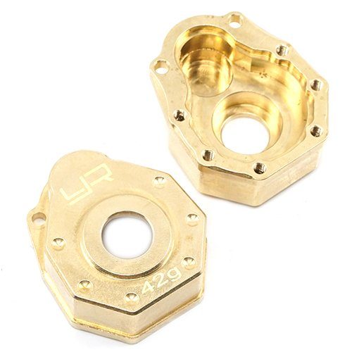 Racing Brass - Yeah Racing Brass Front or Rear Portal Cover 42g 2 pcs For Traxxas TRX-4 #TRX4-019