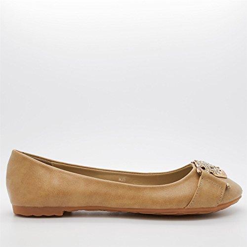 London Footwear - Ballet mujer caqui
