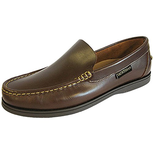 Nouveau Mens Yachtsman Pont de bateau feuillet en cuir sur chaussures taille UK 7 - 12, (Brown, UK 12)