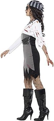Amakando Disfraz Pirata Halloween - XS (ES 32/34) | Vestido ...