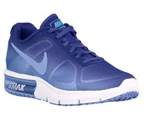 Nike Wmns Air Max Sequent, Zapatillas De Running para Mujer Azul (Chlk Bl / Chlk Bl-Dp Nght-White)