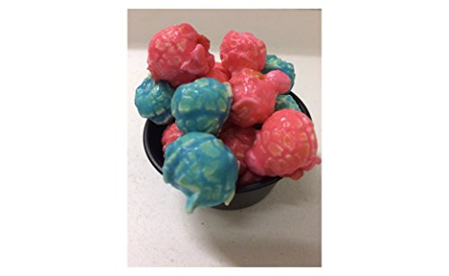 Blue & Pink Mixed Gourmet Popcorn - Cotton Candy flavored No Preservatives Gluten Free Nut Free 34 cups