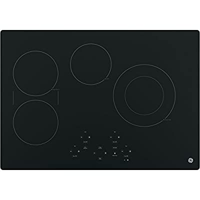 "JP5030DJBB 30"" Built-in Electric Cooktop with Four Radiant Cooking Elements, Digital Touch Controls, Kitchen Timer, Keep-Warm and Melt Settings in Black"