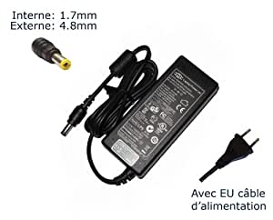 Laptop-Power-Adaptador de corriente AC para Compaq PRESARIO v3240tu-Power-Ordenador portátil (TM) de marca () con enchufe europeo