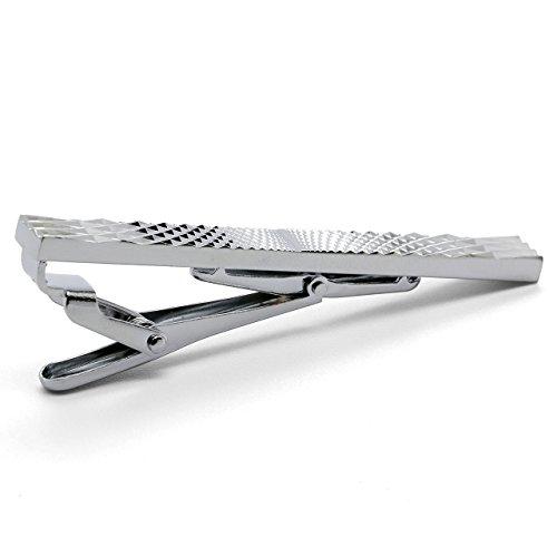 Zysta Style Commercial Pinces à cravate Epingle de cravate Argent Acier Inoxydable