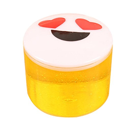 Leegor Clay Slime DIY Crystal Mud Play Transparent Magic Plasticine Kid Toys Stress Reliever Great Gift (Yellow)