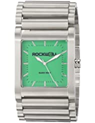 Rockwell Time Unisex RK105 Rook Stainless Steel Silver and Green Watch