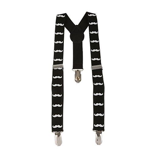 MagiDeal Mustache Adjustable Stretch Suspender