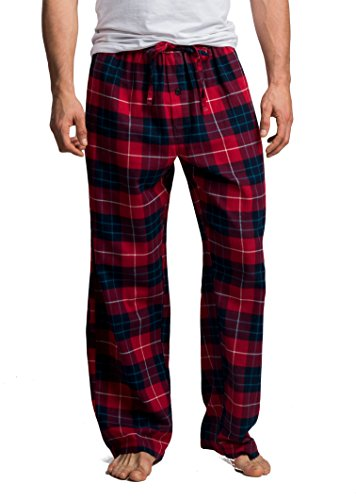CYZ Men's 100% Cotton Super Soft Flannel Plaid Pajama Pants (S, F17015) -