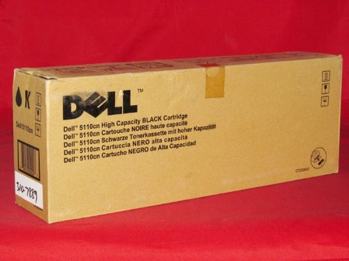 Dell 5110CN High Yield Black Toner (18000 Yield) (Orginal OEM# 310-7889) - Geniune Orginal OEM toner by Dell