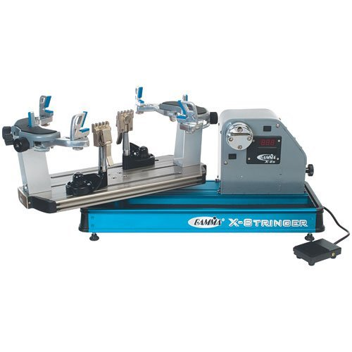 Gamma X-ES Tennis Stringing Machine, Blue/Silver