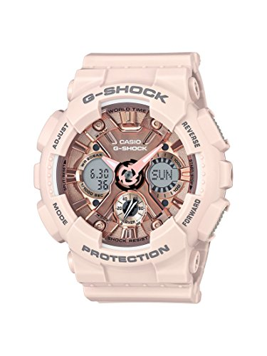 Womens-Analog-Digital-Blush-S-Peach-Resin-Strap-Watch-46mm-GMAS120MF-4A