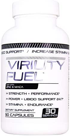 Virility Fuel Male Enhancing Pills (1 Month Supply) - Enlargement Booster for Men - Increase Size, Strength, Stamina - Energy, Mood, Endurance Boost - All Natural Performance Supplement - Made in USA