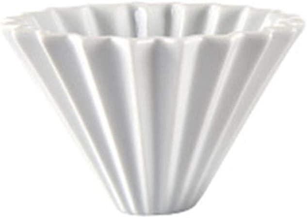 Cerámica Origami Style Filter Cup Coffee Dripper Coffee Cup Pour Over Brewer For Cups Filter Paper Coffee Dripper, Blanco: Amazon.es: Hogar