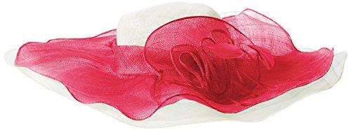 (SCALA Women's Sinamay Hat with Overlay, Fuchsia, One Size )