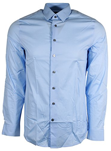 Express Men's Extra Slim Buttondown Shirt (Medium, Light Blue) -