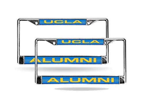 Rico UCLA Bruins NCAA Alumni Chrome Metal (2) Laser Cut License Plate Frame Set
