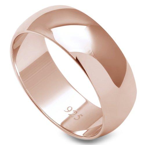 Oxford Diamond Co de plata de ley sólida para mujer, para hombre, anillo de boda unisex, comodidad, 2-10 mm, tamaños 2-16 colores disponibles