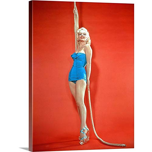 GREATBIGCANVAS Gallery-Wrapped Canvas Entitled Marilyn Monroe - Vintage Publicity Photo by 27
