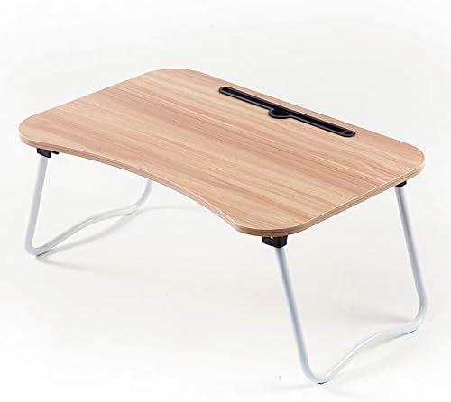 折りたたみテーブル ホームや学校のための木材の適切な折り畳み式の脚を持つ複数の色のラップトップスタンドポータブルベッドLapdeskコンピューター表 ベッド ソファー オフィス アウトドア用 (Color : Brown, Size : 60x40x28cm)
