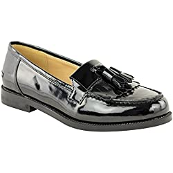 Fashion Thirsty Womens Loafers Flat Casual Office Work School Fringe Tassel Dress Shoes Size 8