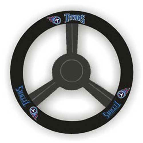 Fremont Die NFL Tennessee Titans Leather Steering Wheel Cover, Black, One Size