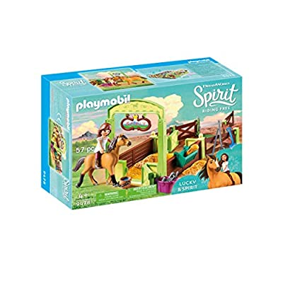 PLAYMOBIL Spirit Riding Free Lucky & Spirit with Horse Stall Playset, Multicolor: Toys & Games