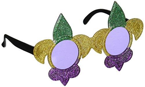 Glittered Fleur De Lis Fanci-Frames (green, gold, purple) Party Accessory  (1 count) (1/Pkg) ()