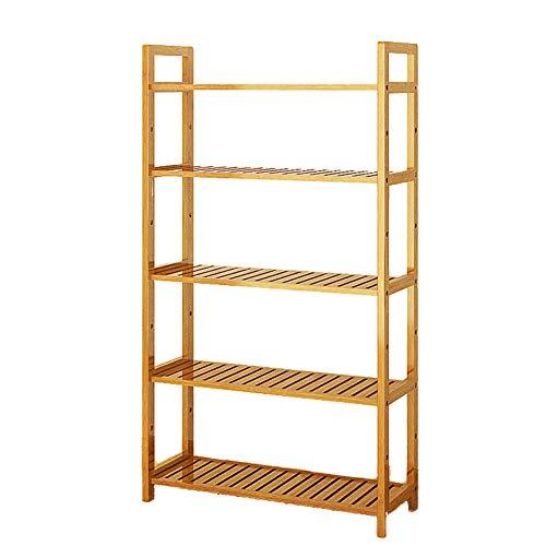 Nivel 3-5 Madera Estantería de bambú,Multifuncional Librería anaquel Espesado Pie de Organizador de almacenamiento Muebles...