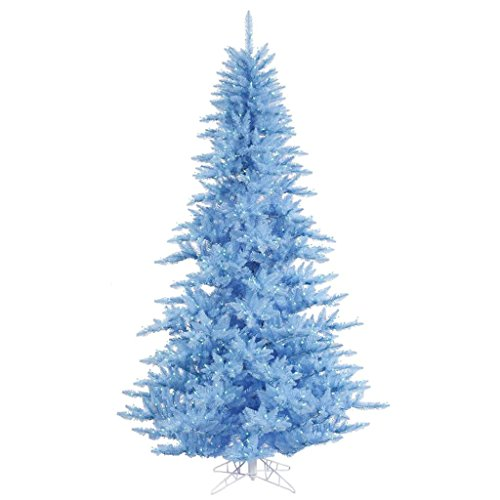 Blue Artificial Christmas Tree - Vickerman Fir Tree with 234 PVC Tips & 100 Dura-lit LED Italian Style lights on Wire, 3' x 25