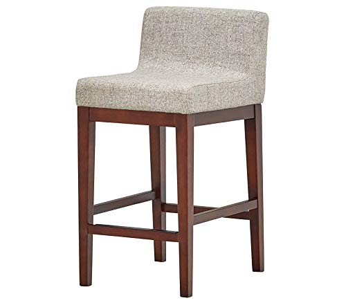 - Deluxe Premium Collection Mid-Century Low-Back Counter Stool 33.5