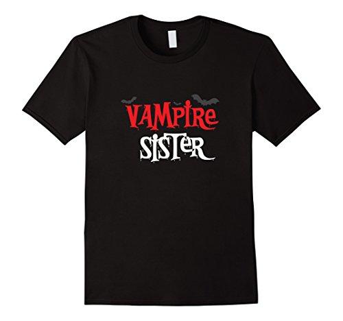 Mens Vampire sister Shirt, Funny Cute Halloween Costume Gift 3XL (Cute Sisters Halloween Costumes)