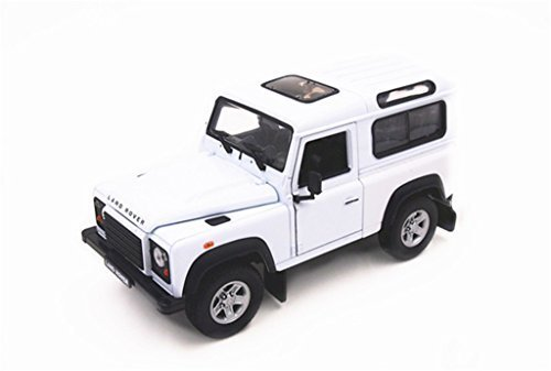 Welly Land Rover Defender 1/24 Scale Diecast Model Car White by Welly