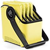 """LocknCharge Large 5-Slot Plastic Device Basket, Single, 8"""" Height, 12"""" Wide, 12"""" Length, Yellow (10043)"""