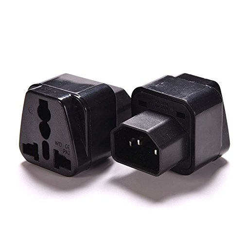 IEC C14 to Universal Female AU US UK EU C13 &1 (2in1) Adapter Power Plug/Socket