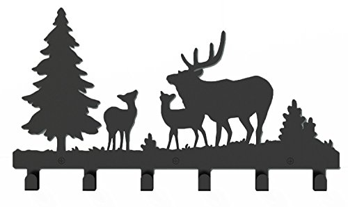 41muB8EjMpL - Wander Agio Deer Tree Forest Elk Cartoon Animal Metal Wall Mounted Bag Hanger Coat Rack Clothing Hooks Hanging Racks Black