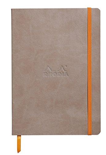 Rhodiarama Dot 5.5 x 8.3 inch Taupe Notebook