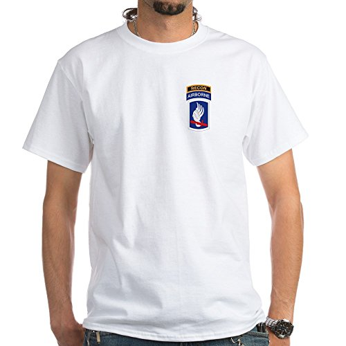 CafePress 173rd ABN with Recon Tab White T-Shirt 100% Cotton T-Shirt, White ()