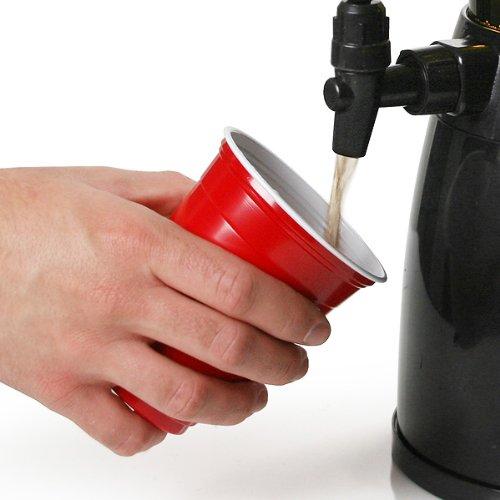 Vasos rojos americanos para fiesta 16 oz / 455ml - Pack de 50   bar@drinkstuff Vasos rojos - Rubí, Manzana roja, Vasos de plástico - Vaso desechable, ...