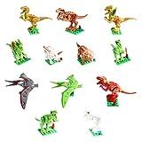 Zmoon Dinosaur Building Blocks, Dinosaur Action Figures Toys Dinosaur Playset Gifts for Kids Boys Girls Toddlers
