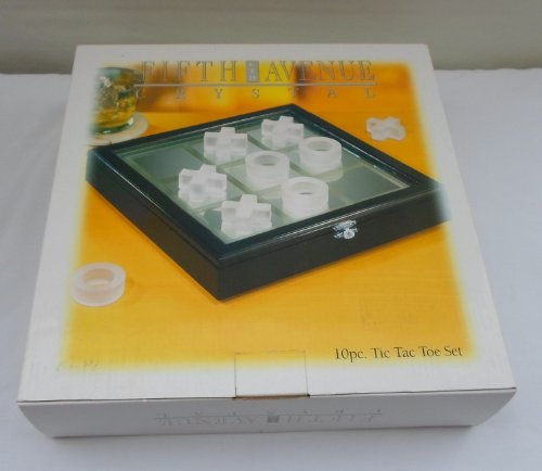 FIFTH AVENUE CRYSTAL 10 PIECE TIC TAC TOE SET Fifth Ave Crystal