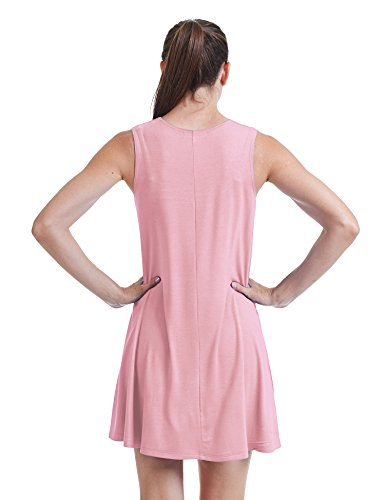 Made USA Together Dress Round Wdr929 Sleeveless pink Come Womens California Trapeze in CTC Neck BwxFzZqz
