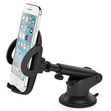 Vantrue Car Mount Phone Holder with Quick Release Button for iPhone 7 Plus/7/6S Plus/6Plus/6S/6/5S, Galaxy S7 Edge/S8/S7/S6/S6 Edge/Note 5/4/3, Google Pixel/Pixel XL/Nexus 6/6P/5X/5, LG G6 &other smartphone,gps