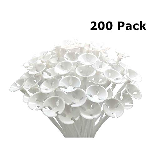 ANSTER 200 Pcs Balloons Sticks Holders with Balloon Cups for Wedding, Birthday, Holidays, Anniversary, Party