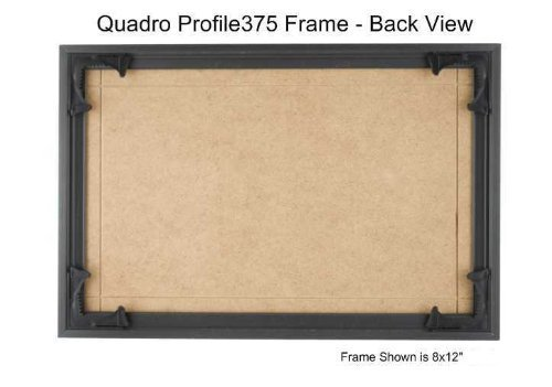 Quadro Frames 6x12 inch Picture Frame, Black, Style P375-3/8 inch Wide Molding by Quadro Frames (Image #1)