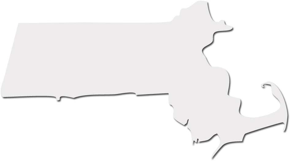 """Massachusetts Bay State Boston Pride Decal Sticker - White 5"""" Vinyl Decal for Cars, Macbooks, and Other Laptops"""