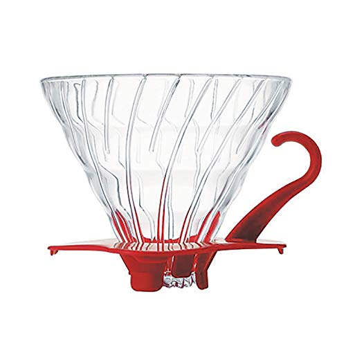 - Hario V60 Glass Coffee Dripper, Size 02, Red