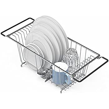 Amazon Com Over The Sink Kitchen Dish Drainer Rack