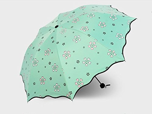LONNOG Water Activated Color Changing Flower Print Umbrella (green)