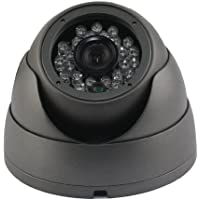Oroview Vandal Proof 700TVL Day Night Dome Camera CCTV with Infrared IR Night Vision, 3.6mm Wide View Angle Lens Dark Grey